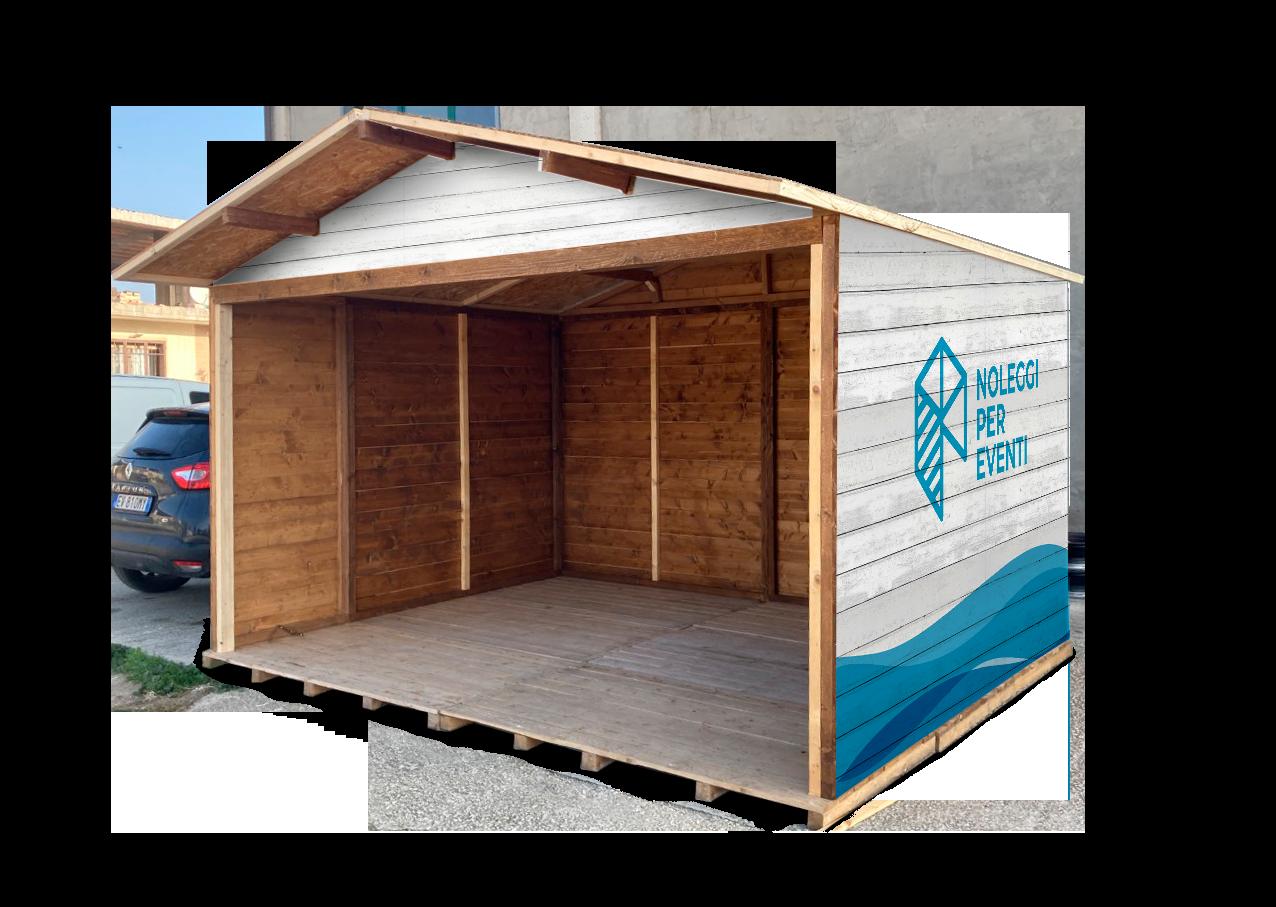 casetta in legno per eventi